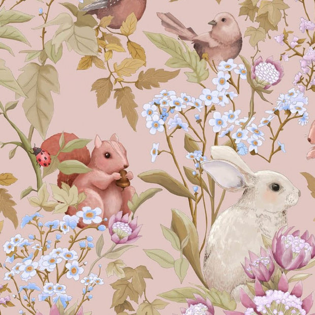 JIMMY CRICKET WOODLANDS WALLPAPER - BLUSH