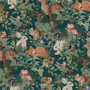 JIMMY CRICKET WOODLANDS WALLPAPER - DEEP TEAL