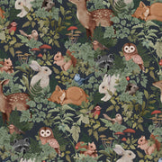 JIMMY CRICKET WOODLANDS WALLPAPER - CHARCOAL