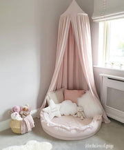 COTTON & SWEETS LINEN JUNIOR PLAY NEST - POWDER PINK