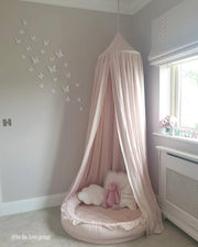 Cotton & Sweets Linen Canopy - Powder Pink