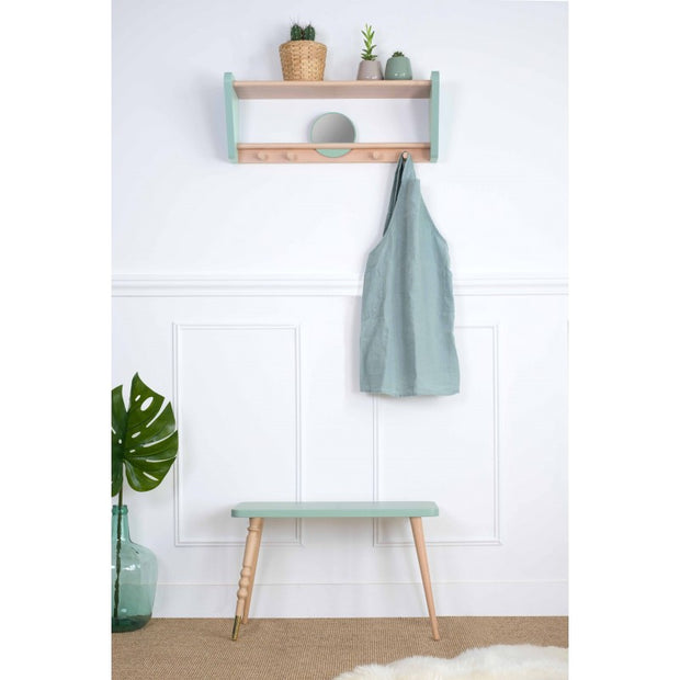 JUNGLE BY JUNGLE CHILD WALL SHELF - CELADON GREEN / BEECH