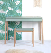 JUNGLE BY JUNGLE CHILDREN'S OAK STOOL - CELADON GREEN