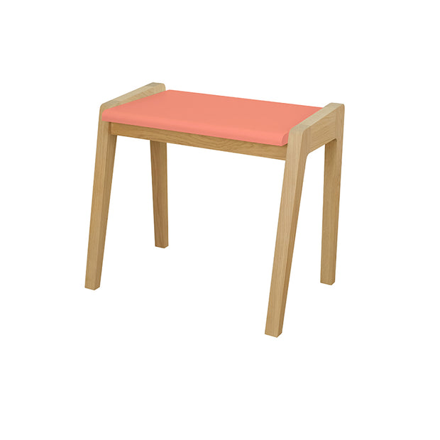 JUNGLE BY JUNGLE CHILDREN'S OAK STOOL - PINK