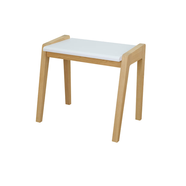 JUNGLE BY JUNGLE CHILDREN'S OAK STOOL - WHITE