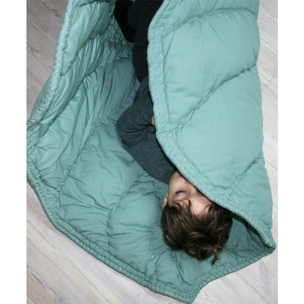 NOFRED ORGANIC LEAF BLANKET - MINT GREEN