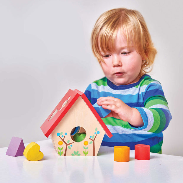 LE TOY VAN WOODEN SHAPE SORTER - BIRD HOUSE