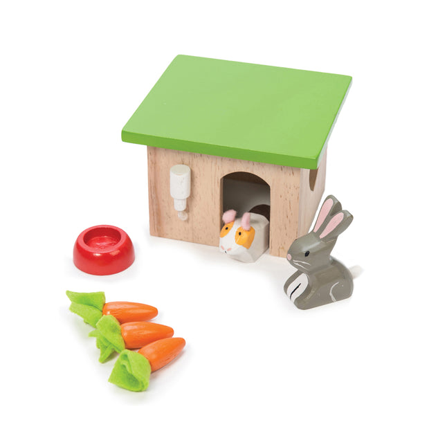 LE TOY VAN WOODEN TOY CHARACTER PACK - BUNNY & GUINEA PIG
