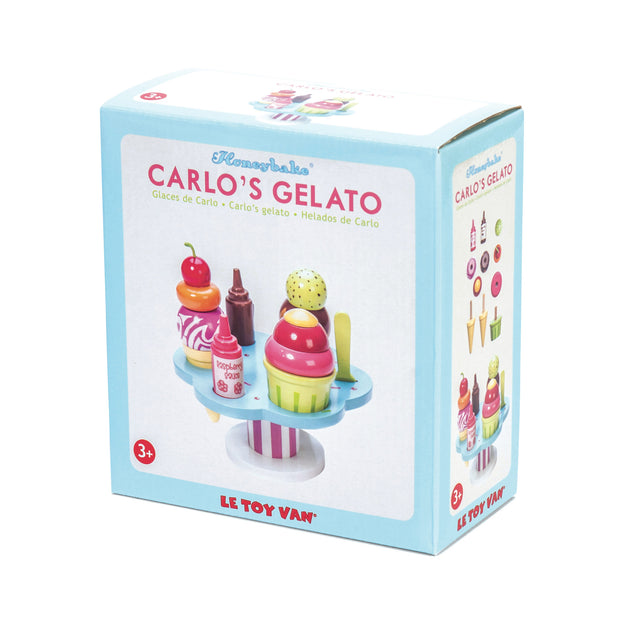 LE TOY VAN WOODEN TOYS - CARLOS GELATO ICE CREAM