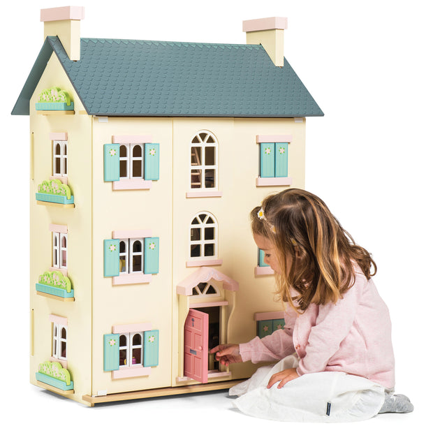 LE TOY VAN WOODEN DOLL HOUSE - CHERRY TREE HALL