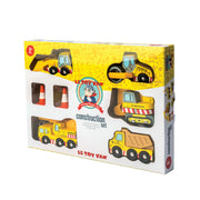 Le Toy Van Wooden Toy Car Set - Construction Vehicle Set