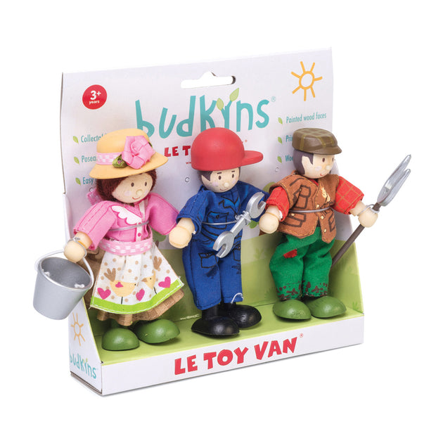 Le Toy Van Wooden Budkins Characters - Farmer Family