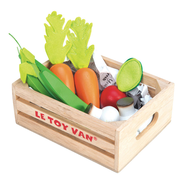 Le Toy Van Honeybake Wooden Toys - '5-A-Day' Vegetable Basket