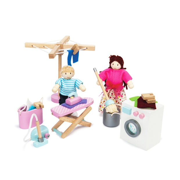 LE TOY VAN DOLL HOUSE FURNITURE SET - LAUNDRY ROOM