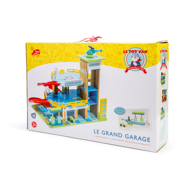 LE TOY VAN LE GRAND WOODEN GARAGE