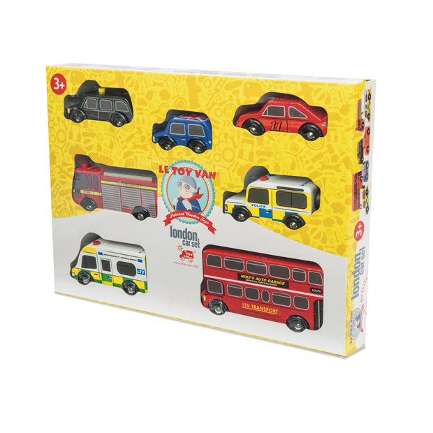 Le Toy Van Wooden Toy Car Set - London Vehicles