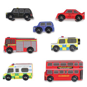 LE TOY VAN WOODEN TOY VEHICLES - LONDON CAR SET