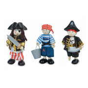 LE TOY VAN WOODEN TOY CHARACTER PACK - PIRATES