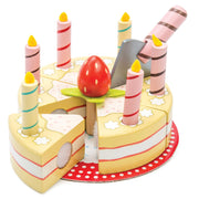 Le Toy Van Wooden Toy Set - Vanilla Birthday Cake