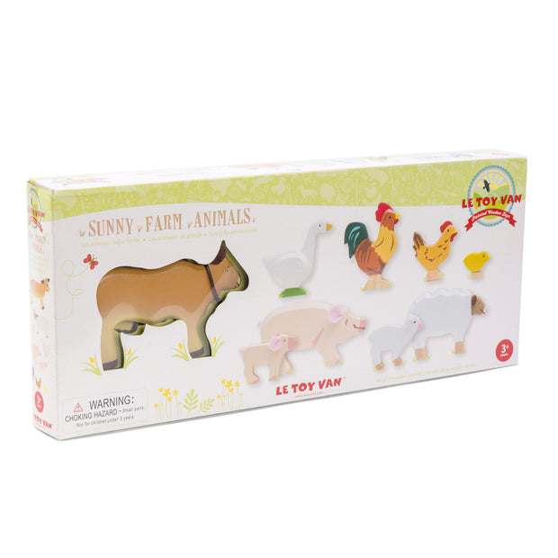 Le Toy Van Wooden Toy Characters - Sunny Farm Animals
