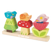 Le Toy Van Wooden Toy Set - My Stacking Garden