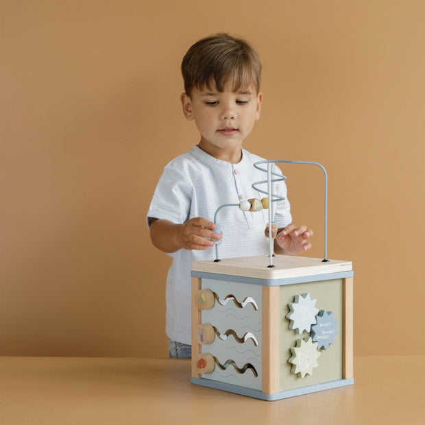 Little Dutch Wooden Activity Cube - Blue