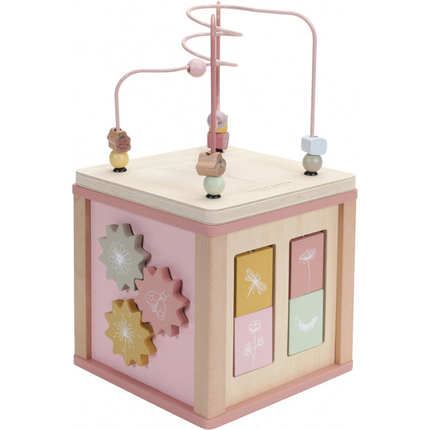 Little Dutch Wooden Activity Cube - Pink