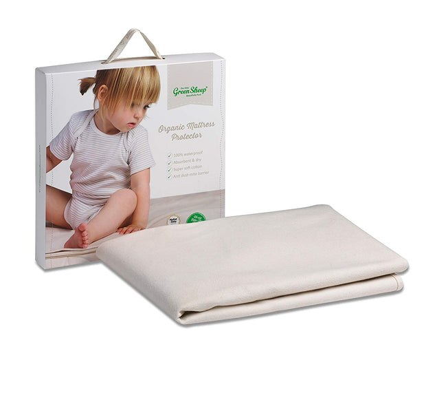 LITTLE GREEN SHEEP ORGANIC MATTRESS PROTECTOR - COT BED