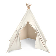 LITTLE GREEN SHEEP TEEPEE PLAY TENT - LINEN