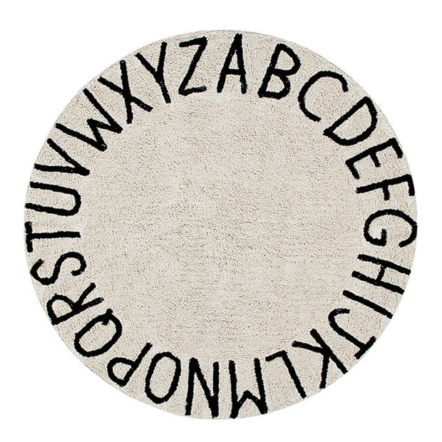 Lorena Canals Machine Washable Rug - ABC Natural/Black