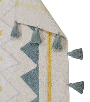 Lorena Canals Machine Washable Rug - Azteca Natural/Blue