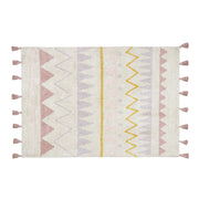 LORENA CANALS AZTECA WASHABLE RUG - NATURAL | PINK