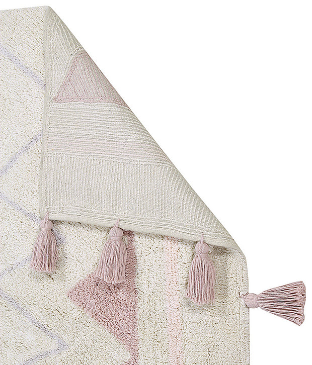 Lorena Canals Machine Washable Rug - Azteca Natural/Pink