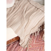 LORENA CANALS AIR DUNE WHITE COTTON BLANKET