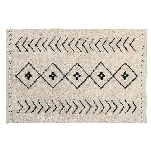Lorena Canals Machine Washable Rug - Bereber Rhombs Beige