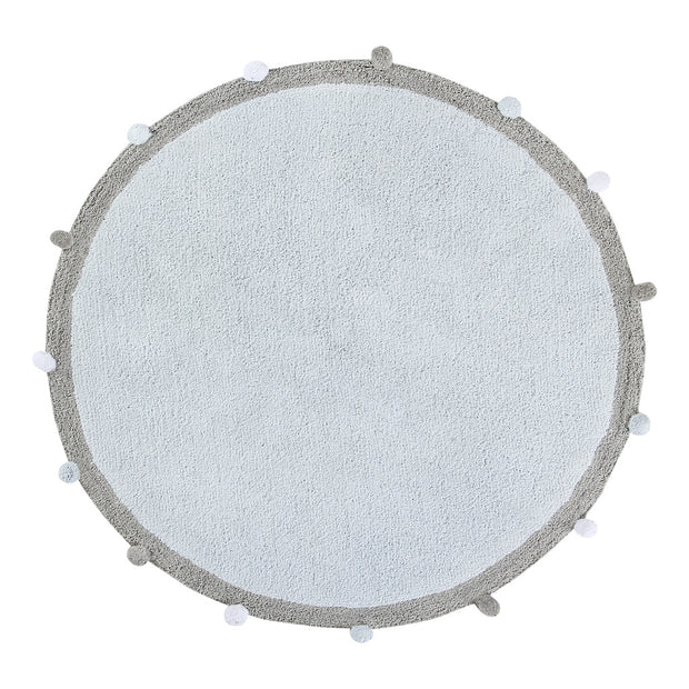 LORENA CANALS WASHABLE ROUND RUG - BUBBLY SOFT BLUE