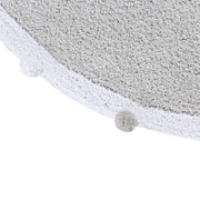 LORENA CANALS WASHABLE ROUND RUG - BUBBLY SOFT GREY