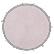 LORENA CANALS WASHABLE ROUND RUG - BUBBLY SOFT PINK