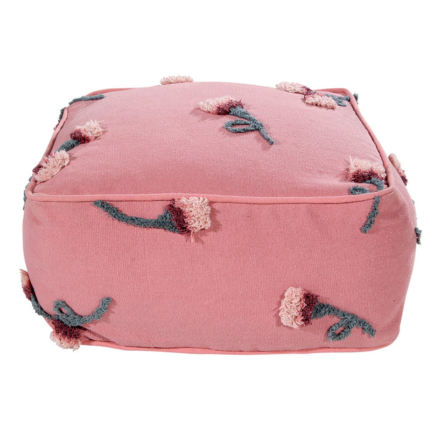 LORENA CANALS ENGLISH GARDEN POUFFE - ASH ROSE