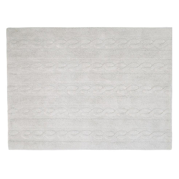 Lorena Canals Machine Washable Rug - Braids Pearl Grey