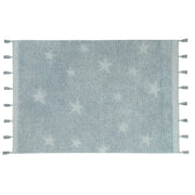LORENA CANALS HIPPY STAR WASHABLE RUG - AQUA BLUE