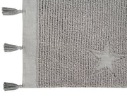 LORENA CANALS HIPPY STAR RUG - GREY