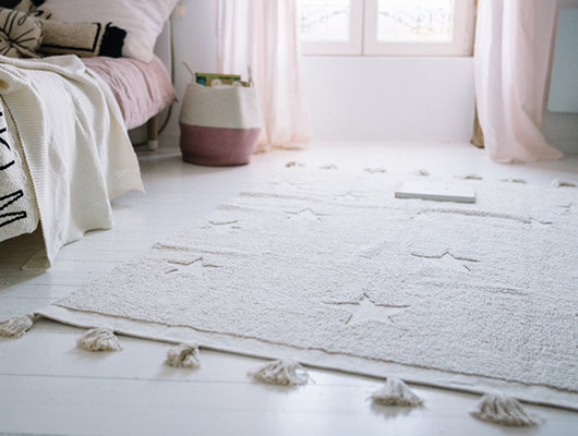 LORENA CANALS HIPPY STAR RUG - NATURAL