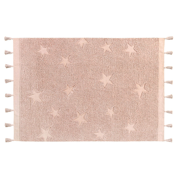 LORENA CANALS HIPPY STAR WASHABLE RUG - VINTAGE NUDE PINK