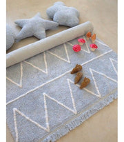 LORENA CANALS WASHABLE HIPPY RUG  - SOFT BLUE
