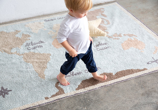 LORENA CANALS MACHINE WASHABLE KIDS RUG - VINTAGE MAP