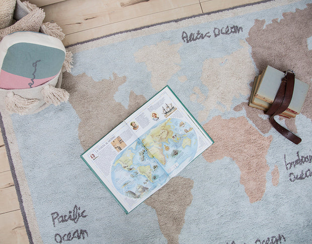 Lorena Canals Machine Washable Rug - Vintage Map