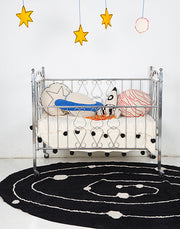 LORENA CANALS MILKY WAY BLACK RUG
