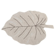 LORENA CANALS MONSTERA LEAF WASHABLE RUG - NATURAL