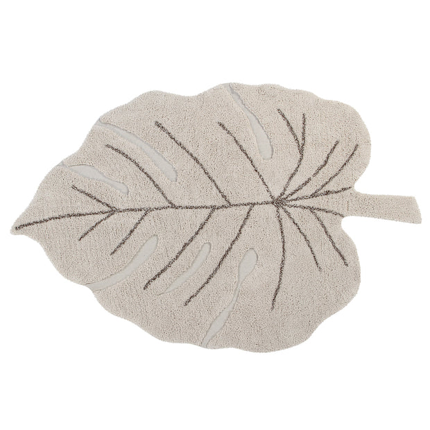 Lorena Canals Machine Washable Rug - Monstera Leaf Natural